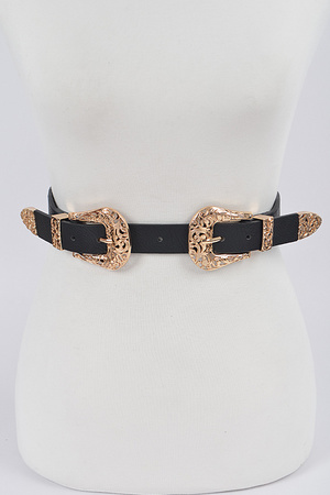 Unique Belt With Patterned Buckle.