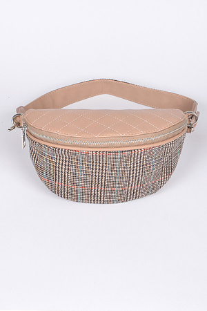 Mixed Design Fanny Pack