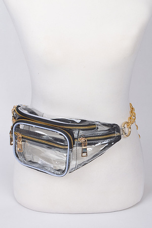 Chain Clear Fanny Pack.