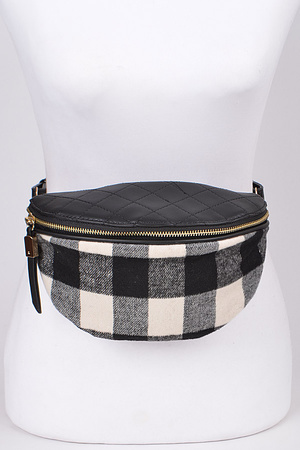Squares Print Lovely Fanny Pack