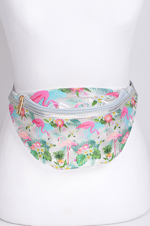 Flamingo Clear Fanny Pack