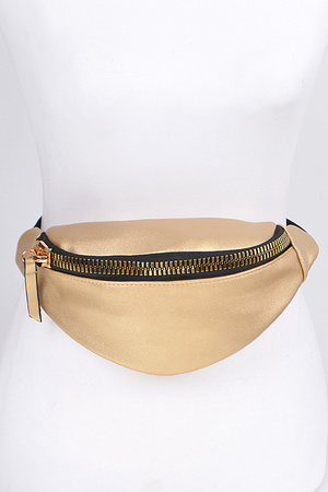 Simple Fanny Pack With Zipper