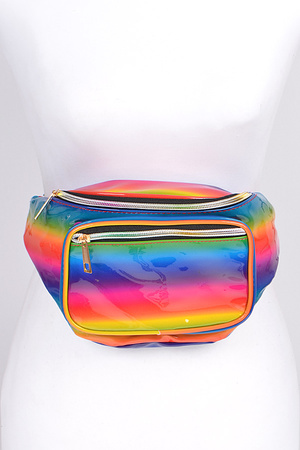 Good Vibes Fanny Pack With Zippers