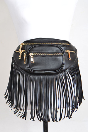 Fringed Fanny Pack With Pockets.
