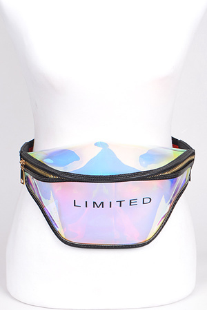 Limited Written Clear Fanny Pack.