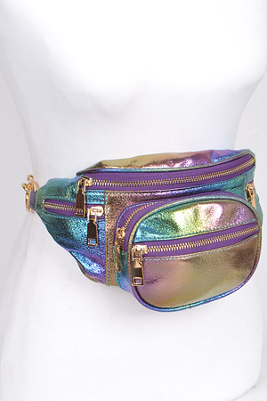 Perfect Fanny Pack With Multi Zippers