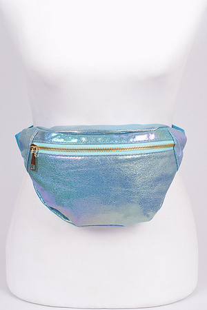 Flashy Fanny Pack With Zipper