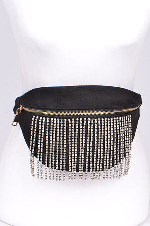 Fringed Rhinestone Fashion Fanny Pack