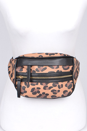 Casual Animal Print Fanny Pack