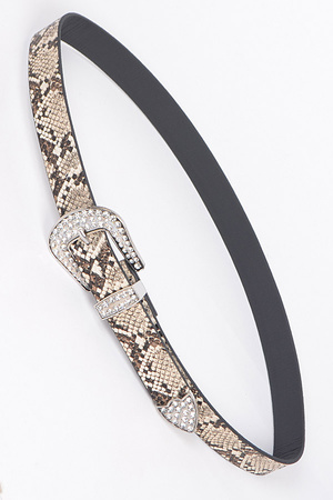 Faux Animal Skin Belt