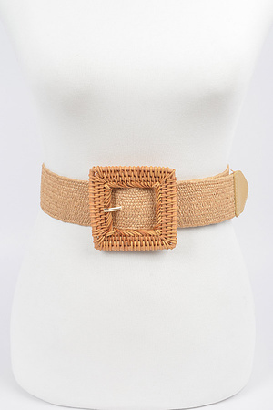 Elastic Twine Buckle Belt.