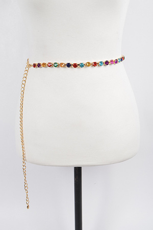 Jeweled Thin Belt.