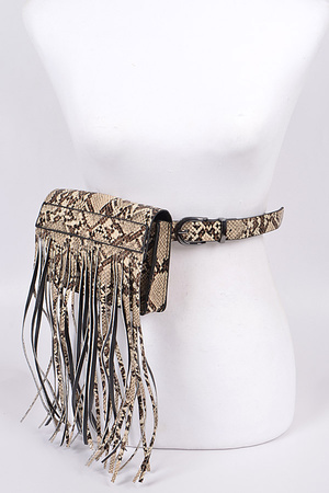 Snakeskin Curtain Fanny Pack