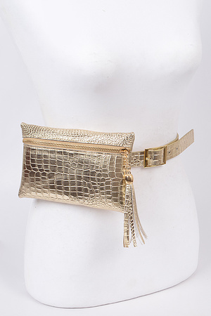 Faux Animal Skin Fanny Pack