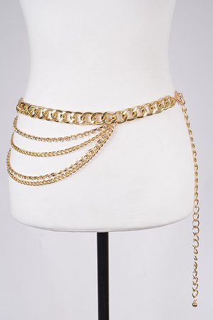 Multi Layered Chainlink Belt.
