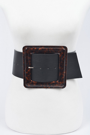 Iconic Square Buckle Belt.