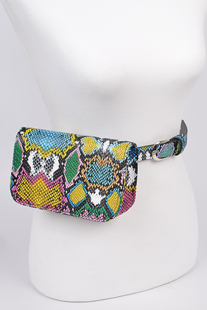 Multicolored Melt Pouch Belt