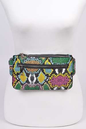 Multicolored Melt Wallet Belt
