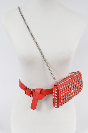Multi Purpose Studded Fanny Pack.