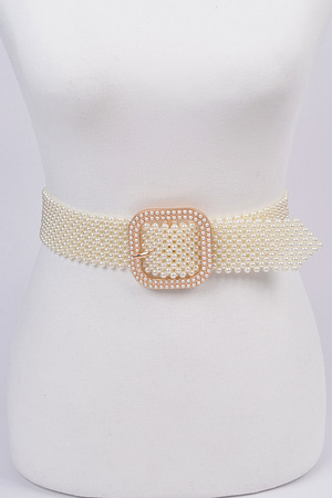 Knitted Pearl Belt.