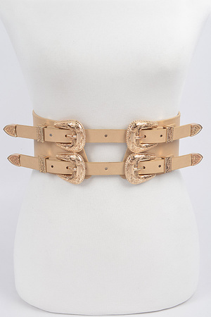 Swirl Metal Buckle Belt.