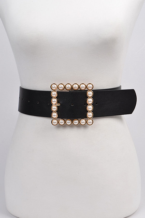 Pearl Beads Rectangle Belt.