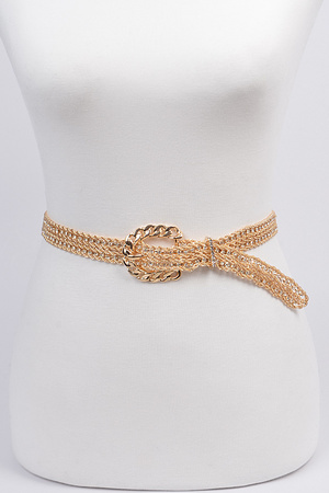 Cross Chain Buckle Belt