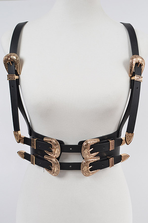 Two Buckle Suspend Elastic Belt