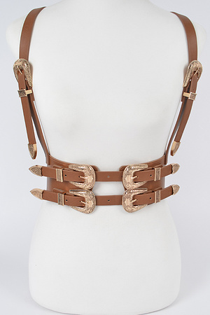 Two Buckle Suspend Elastic Belt.