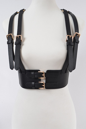 Two Buckle Double Suspend Elastic Belt.