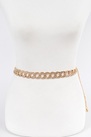 Stoned Oversized Chain Belt.