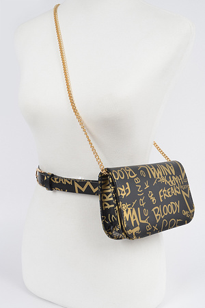 Graffiti Waist Belt Bag