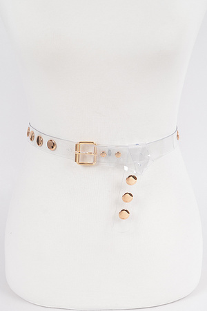 Transparent Studded Belt