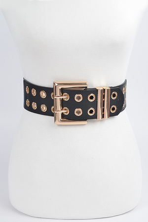 Full Eyelet Front Stretch Belt