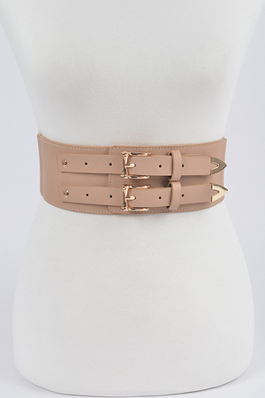 Corset Stretch Belt W/Two Buckles