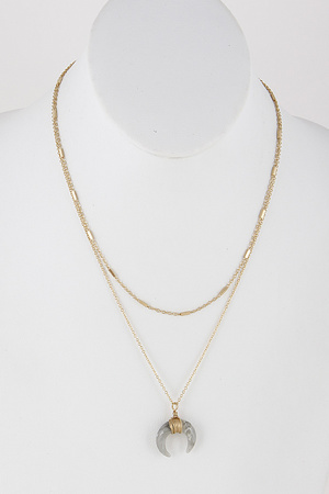 Crescent Moon Chainlink Necklace 9DBC6
