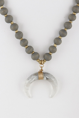 Crescent Beaded Necklace 9BCA2