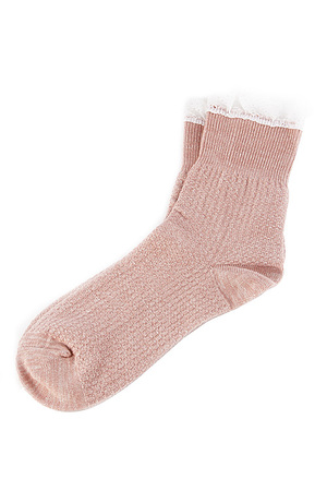 Adorable Soft Sewn Lace Ankle Sock 5CCH