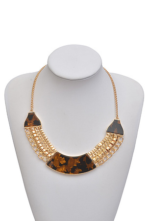 Chains and leapard collar necklace 119..