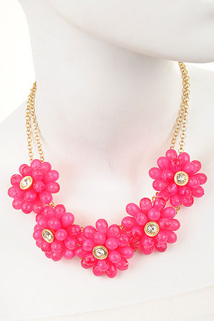 Candy Flower necklace set-gfu-dbh4