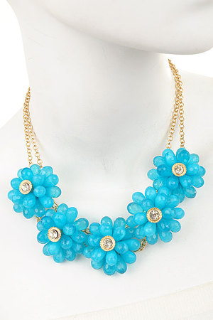 Candy Flower necklace set-gtq-dbh4