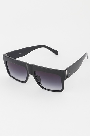 Simple Wide Frame Sunglasses