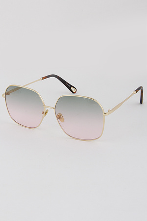 Classic Wide Eyed Aviator Sunglasses