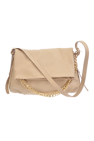 Unbalanced Chain Linked Fold Handbag