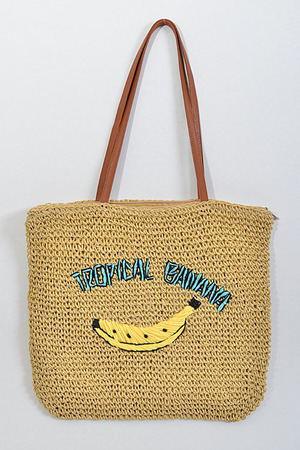 Tropical Banana Beach Inspired Shoulder Bag