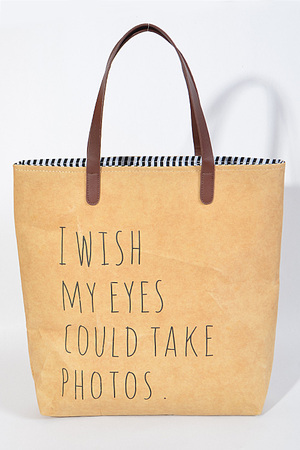 """ I wish my eyes could take photos"" Daily Bag"