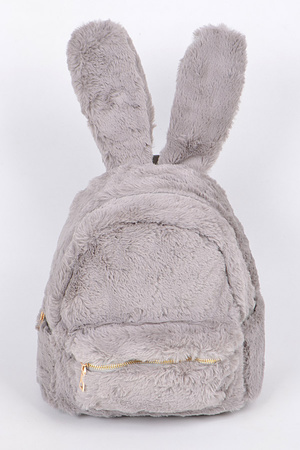 Lovely Bunny Faux Fur Backpack