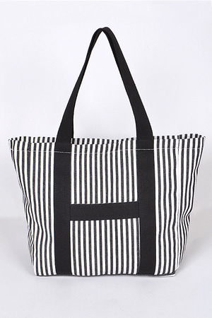Summer Time Bag With Vertical Lines