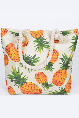 Cool Pineapple Both Sided Summer Bag