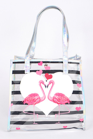 Two Flamingos in Love Bag